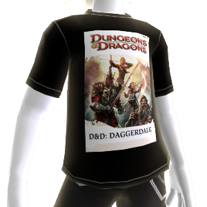 Daggerdale:  D20 TShirt  Male