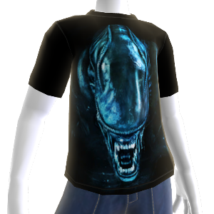 &quot;Aliens-Kopf&quot;-T-Shirt