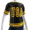 Epic Tshirt USA Gold Black Chrome