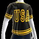 Epic Tshirt USA Gold Black Chrome