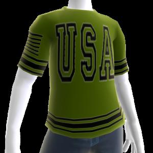 USA Soccer Green Jersey Black