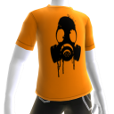 Black Gas Mask Orange Tee