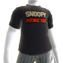Snoopy Flying Ace-Logo-T-Shirt
