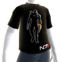 T-shirt noir de Mass Effect 3
