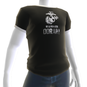 Marines OORAH! Tee - Black