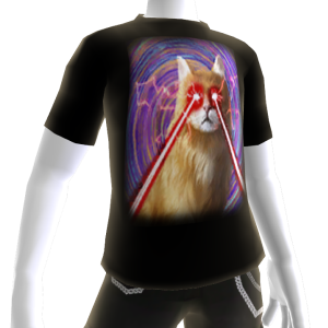 Epic Laser Cat 2 Swirls T-Shirt