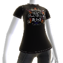 T-shirt med Rock Band Blitz-logotyp