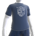 Camiseta con logotipo blanco de los autobots
