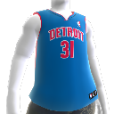 Detroit Pistons NBA2K10-Trikot