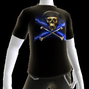 Gold Beret Skull Shirt