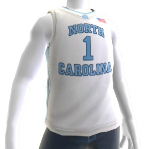 North Carolina Basketball Home Jersey