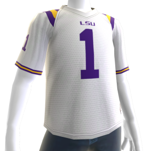 LSU White Football Jersey