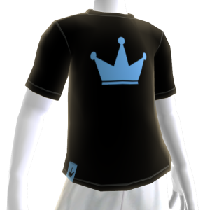Sky Blue on Black Crown Tee