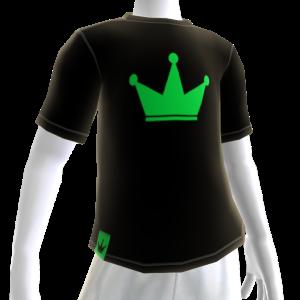 Green on Black Crown Tee
