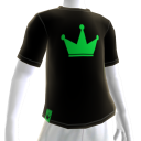 Green on Black Crown Tee