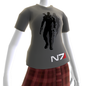 Camiseta gris de Mass Effect 3