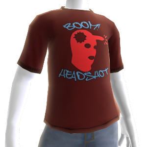 Boom Headshot Red Shirt