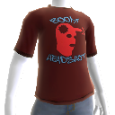 T-Shirt rouge Boum Headshot