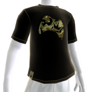 Camo on Black Controller Crown Tee