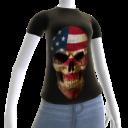 3d USA Soccer Skull Shirt