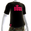 Pink on Black BOSS Tee