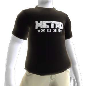 Black Metro 2033 logo shirt