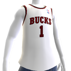Camiseta Retro NBA2K13 Bucks 70-71