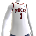 Maillot NBA2K13 rtro Bucks 70-71