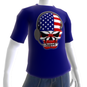 USA Soccer Gamer Skull Blue