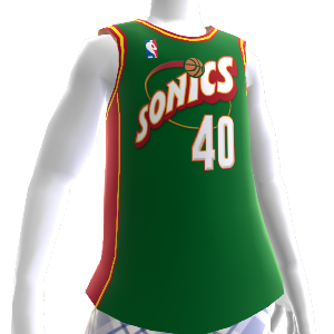 Camiseta NBA 2K13 Sonics 95-96 Retro