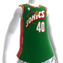 Camiseta Retro NBA 2K13 Sonics 95-96
