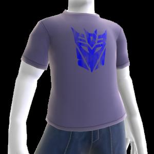 T-shirt com logótipo azul dos Decepticons