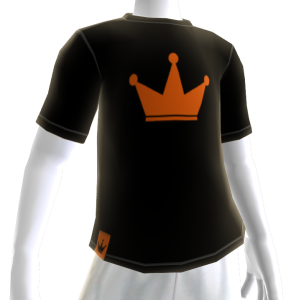 Orange on Black Crown Tee