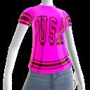 Epic Tshirt USA Black Pink Chrome