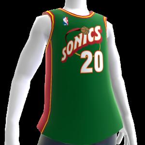 Sonics 95-96 Retro NBA 2K14 Jersey