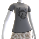Camiseta de cráneo aplastado