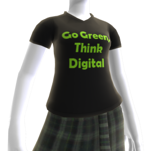 Go Green Think Digital T-shirt