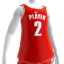 KKZ Red and White Player 2 Jersey