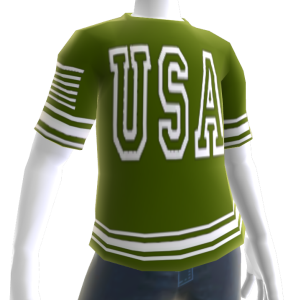 USA Soccer Green Jersey White