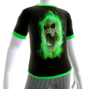 Green Fire Skull Green Trim