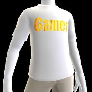 White Gamer Gold SS Shirt