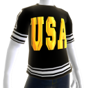 Epic Tshirt USA Blk Wht Gold Chrome