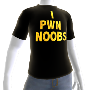 Epic Gold I Pwn Noobs Black