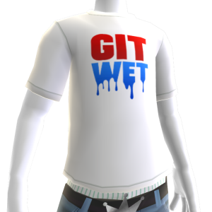 Git Wet Tee- White