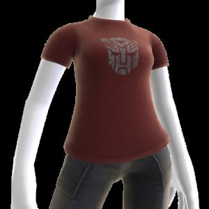 T-shirt com logótipo cinzento dos Autobots