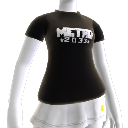 Camisola Metro 2033 preta com logótipo