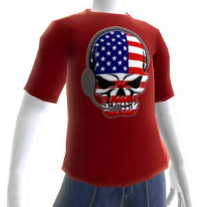 USA Soccer Gamer Skull Red
