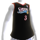 Maillot NBA2K13 rtro Sixers 00-01