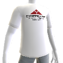 T-shirt logo Cyberdyne, blanc