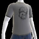 T-shirt avec crâne éclaboussé